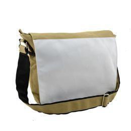 Холст школьный мешок для сублимации сумки для пользовательских фото тепла передачи печати пустой хаки одно плечо сумка Оптовая от