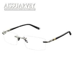 8c7845cca3 rimless prescription eyeglasses 2019 - Men Glasses Frames Optical Rimless  Titanium Alloy Metal Eyeglasses Fashion Brand