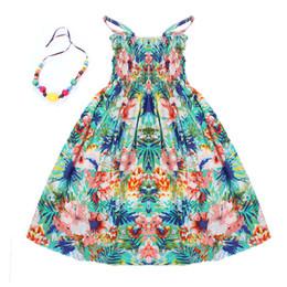 Collar de limon online-2017 Ropa de verano para niños niñas Nuevo 2-11Y niños vestidos de playa para las niñas de moda de estilo bohemio niñas vestidos collar libre