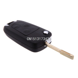 Wholesale Keyless Entry For Cars - 2015 New Uncut Modify Flip Folding Remote FOB Car Key Case Shell for Ford Focus Mondeo Switchblade 3 Button Replacement