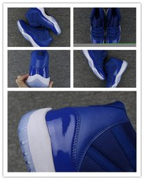 Wholesale Womens Satin Tops - 2018 New 3 True Blue mens womens Basketball Shoes Sneakers Cheap High Top Blue White 11s trainers size 36-47
