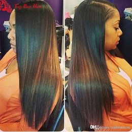 Wholesale Human Lacefront Wigs - Straight Lacefront Wig For Black Women Glueless Full Lace Straight Wig Human Hair Glueless Hair Full Lace Virgin Wigs With Baby Hair