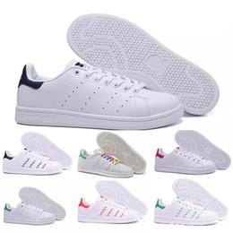 best sneakers 4bd11 29e90 Marca de calidad superior mujeres hombres nuevos stan zapatos de moda smith  sneakers casuales zapatos deportivos de cuero