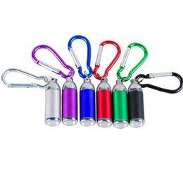 Tube de lampe led mini en Ligne-Mini LED Porte-clés Lampe de poche Porte-clés Tube Portable Porte-clés Lampe Torche Q0434