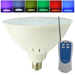 éclairage par56 Promotion AC 12 V 110 V E27 RGB LED Piscine Sous-Marine Ampoule Par56 18 W 40 W Lampada Wateproof IP68 pour Aquarium Étang Lampe À Distance contrôle