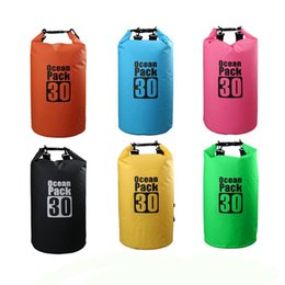 Wholesale pink camping gear - Outdoor Waterproof Bag Dry Bag Ocea Pack With Shoulder Strap Protect Your Gear for Outdoor Rafting Boating Camping Fishing Swimming