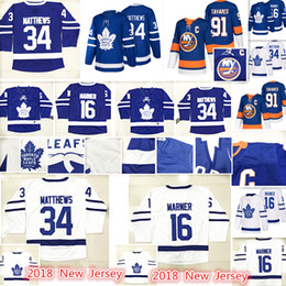 Wholesale John 16 - 2018 New Toronto Maple Leafs New York Islanders Jersey Men #91 John Tavares 16 Mitch Marner 34 Auston Matthews Hockey Jerseys