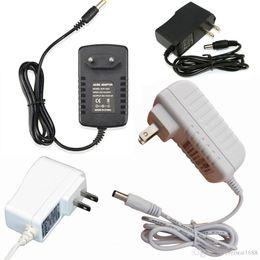 Wholesale 12v Power Supply 2a - 1A 2A Power Supply AC 100-240V To DC 12V Adapter Plug For 3528 5050 Strip LED with EU US plug