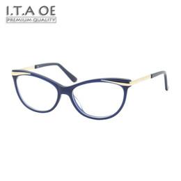 Wholesale Prescription Blue - ITAOE Model Chris Ultralight Quality Acetate Women Optical Prescription Glasses Eyewear Frames Spectacles 135mm