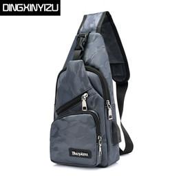 Wholesale Sling Rucksack - DINGXINYIZU Brand Camouflage Waterproof Nylon Men Chest Pack Small Sling Messenger Shoulder Bag Casual Travel Rucksack Chest Bag