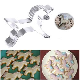 Wholesale Metal Pastry Biscuit Cake Cookie - Stainless Steel Unicorn Horse Cookies Cutter Mold Cute Cake Decorating Pastry Baking Biscuit Mould 300pcs OOA4195