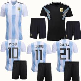 New 2018 MESSI World Cup Argentina Kit AGUERO Soccer Jersey 18 19 DI MARIA  KOMPANY DYBALA Higuain Home jerseys uniforms football shirts fb81ee6e5