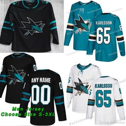 2019 New San Jose Sharks 65 Erik Karlsson Evander Kane Brent Burns Joe  Pavelski Joe Thornton Logan Couture Martin Jones Tomas Hertl Jerseys 907825d73