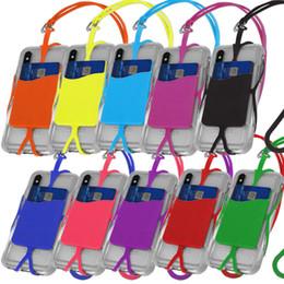 Галантерейные стропы онлайн-Ремешок для мобильного телефона Универсальный чехол для смартфона Чехол ID Держатель для iPhone 7 8 X XS Max Samsung Galaxy Phone