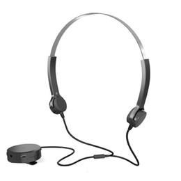 Orelhas ajudas on-line-Fone de ouvido de condução óssea, 4 fone de ouvido aparelho auditivo, cabeça fone de ouvido estereo Esporte aberto Fone de ouvido de condução óssea Fone de ouvido com aparelho auditivo