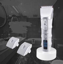 2019 i caricatori tagliano LCD professionale tagliatore di capelli adulto caricatore veloce barba capelli trimmer uomini elettrico precisione taglio macchina taglio di capelli barbiere strumento sconti i caricatori tagliano
