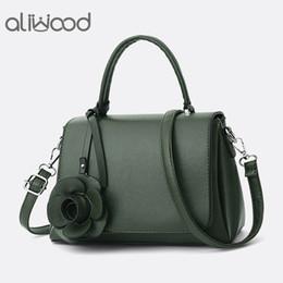 3adca88f7238 aliwood Elegant Simple Women s Handbags With Rose Flower Leather Tote  Ladies Shoulder Bag Female Crossbody Bags Bolsas Feminina