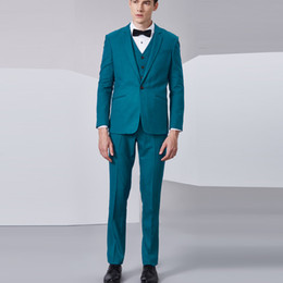 2019 hommes maigres Costume De Mariage Tuxedos Costume D'affaires Blazer Hommes 3 Pièces (Veste + Gilet + Pantalon) Skinny Single Breasted Mens Stage 2018 promotion hommes maigres