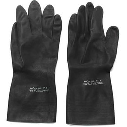 2019 guantes para jardineria Heavy Duty Guantes de goma Ácido álcali Resistente Químico Guantelete Jardín Excavación Laboral Guantes de seguro Guantes de protección Mayitr rebajas guantes para jardineria