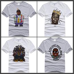 Wholesale america cool - 2018 XS-2XL Men Women Notorious Big T-shirt Short sleeve O-Neck Biggie Smalls Harajuku America hiphop rock star Cool Tshirt