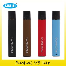 Wholesale V3 Black - 100% Original Sigelei Fuchai V3 Starter Kit 400mAh Vaporizer Vape Pen For Authentic V3 Tank 2207062