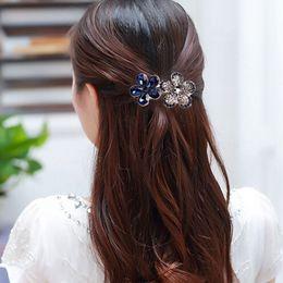 Wholesale Rhinestone Butterfly Hair Clip - 1 pcs Fashion Women's Crystal Rhinestone Flower Metals Hair Pins Barrette Butterfly Hair Clip Band Accessories