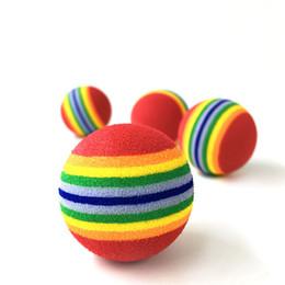 детские развивающие игрушки Скидка 4.2 см красочные Pet кошка мягкая пена мяч собака Радуга играть шары игрушки деятельность смешные Ева шары ZA6482