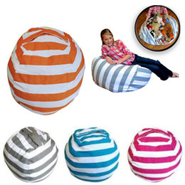 Wholesale Home Play - 5 Colors 18 inch Home Storage Bean Bags Beanbag Chair Kids Bedroom Stuffed Animal Organizer Bag Plush Toys Baby Play Mat CCA8938 50pcs