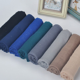 Wholesale Hijab Voile - Sunscreen Women Hijab Easy To Clean Muslim Scarves Bright Powder Cotton Voile Muslim Headcloth For Four Seasons 3 9xs B