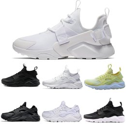 Wholesale nice lighting - Cheap new nice Huarache Classical all White And Black Huaraches Shoes Men Women Sneakers Running Shoes Size 36-45 online sale drop shipping