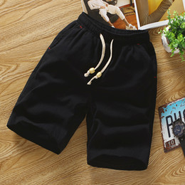 Корейская одежда для мужчин онлайн-Slim Fit Fitness Mens Shorts Summer Casual Cotton Funny Shorts Men Clothes 2018 South Korea Clothing Bermuda Masculina 50S0075
