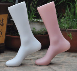 Wholesale female mannequin foot - Free Shipping 2 Pieces Female Foot Mannequin for shoe display nail art, foot model sock display props, shoe stretcher