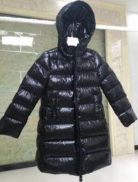 2 Cor Meninas 2018 Inverno Para Baixo jakcet M Para Baixo Casaco Com Capuz Da Cintura 90% de Pato Grosso outerwear das crianças Roupas Quentes para Parkas Com Saco de Pó de Fornecedores de saco de pó roupa