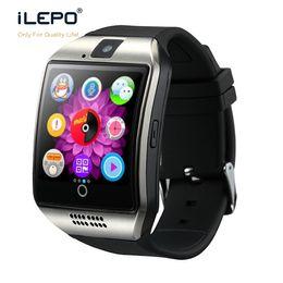 Nfc goophone онлайн-Мода Android часы-телефон Q18 смарт-часы с SIM-карты слот Bluetooth камеры NFC функция Smartwatch для Apple Goophone телефоны Xiaomi