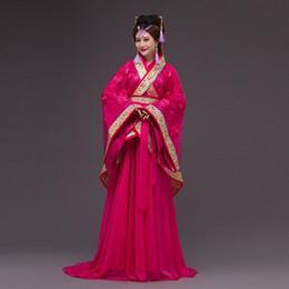 2019 rainhas de fadas Mulheres antigas chinesas dress floral rainha do vintage princesa dress a fada tang terno hafu roupas traje de palco desempenho rainhas de fadas barato