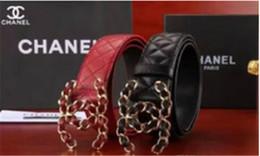 Moda de verano Mujeres de Lujo Cinturones Mujer de Charol Diseñador Delgado Vestido de Las Señoras Oro rosa Hebilla Cinturones de cintura + caja desde fabricantes