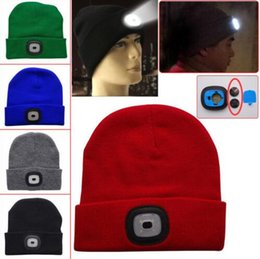 4b312640144 Chinese 17 Colors LED Light Warm Hat Battery Type Winter Beanies Fishing Camping  Cap Knitted Hat
