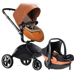 2019 автомобиль оранжевый цвет Сумка кожаная детская коляска и автокресло 2 в 1 детской коляске отправить подарки