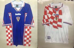 Wholesale Retro 1998 SUKER Camisa de Futebol 1998 SUKER Retro Camisa de Futebol de Futebol de 1998 Copa Do Mundo de Futebol camisas cheap jersey wholesales de Fornecedores de jersey por atacado