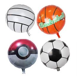 Fiestas de baloncesto online-Fútbol Baloncesto hoja hincha para la copa del mundo inflable globo de helio Juguetes para niños cumpleaños decoración del partido I219 globo de aire