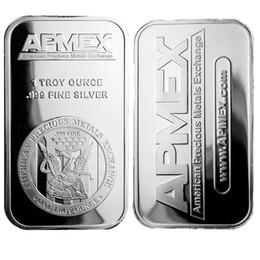 artes do logotipo Desconto 1 oz barra de arte de prata 999 + fine Apmex Logo águia reverso prata bullion moeda Frete grátis 5 pçs / lote 1 oz Sem barra de metal