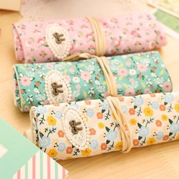 Wholesale School Supply Wholesales - Wholesale-Kawaii Cute Things Pen Bag Pencilcase Pen Pencil Roll Pouch Bag School Pencil Case Student Girls Boys Gifts Office Supplies