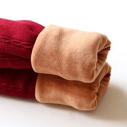 2019 leggings plus chauds Grils Leggings 2018 Automne Hiver Enfants Pantalon Rayé KIDS Épaisse Chaud Élastique Taille Leggings En Coton Une Fille Pantalon Pantalon promotion leggings plus chauds