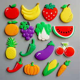 2019 frutta verdura cartone animato Frutta Verdura Fridge Magnet 3D Cartoon Frigorifero Magneti Adesivo Ufficio consiglio spalla Sticker Artigianato Home Decor WX9-821 frutta verdura cartone animato economici
