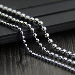 Cadeia de cordão de 2mm on-line-Designer de jóias do vintage 925 sterling silver Rodada talão colar 2mm 50-90 cm camisola cadeia homens e mulheres com longo desencapado cadeia china direto