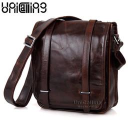Wholesale tablet man bag - UniCalling fashion brand vintage genuine leather men messenger bag high-end real leather men bag tablet shoulder