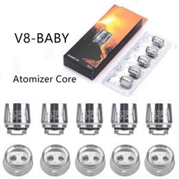 Atomizadores t8 online-SMOKING AFV8 BABY Bobinas Vape V8 Baby T8 T6 X4 Q2 0.4ohm 0.6ohm M2 0.15ohm 0.25ohm Bobina atomizadora de repuesto