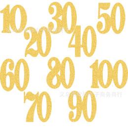 2019 anzahl kuchen cupcakes Backen Kuchen Cupcake Toppers Glitzer 10-100 Jahre alt Anzahl Kinder Kinder Happy Birthday Bankett Feier Dekoration 6 5hb bb rabatt anzahl kuchen cupcakes