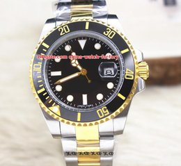 Wholesale luxury watch 18k gold sapphire - Luxury AAA+ Quality Watch 40mm Ceramic Bezel 116613 116613LB 116613LN 18k Gold & Steel Asia 2813 Movement Automatic Mens Watch Watches