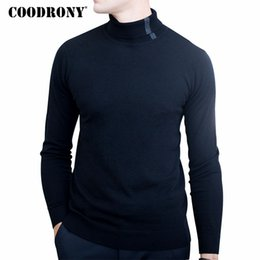 Wholesale Merino Wool Cashmere - COODRONY Christmas Sweater Men Winter Soft Warm Merino Wool Sweaters Casual Turtleneck Pullover Men Knitted Cashmere Pull Homme